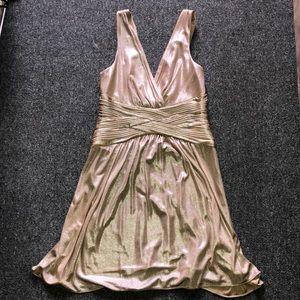 Bcbg Maxazria Gold Metallic Dress Size Small